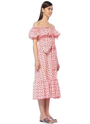 Lisa Marie Fernandez Plaj Elbisesi Kırmızı